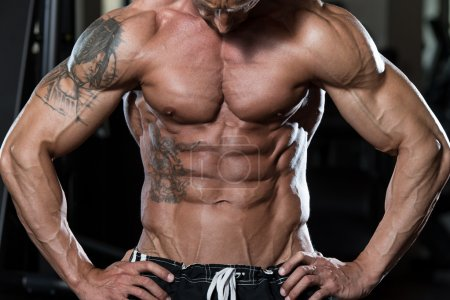Strong Bodybuilder With Six Pack