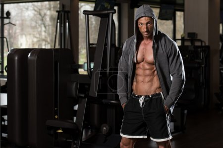 Portrait Of A Physically Fit Man In Hoodie