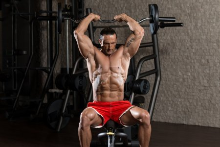 Mature Man Working Out Triceps
