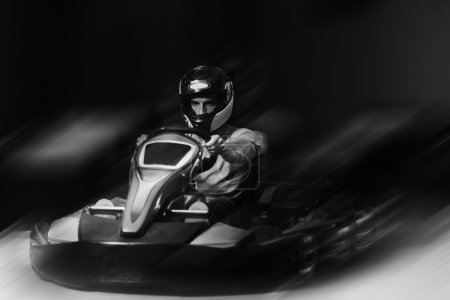 Rushing Kart And Safety Barriers Karting Race