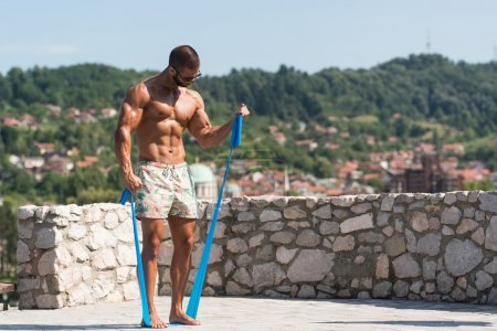 Biceps Exercise Using Resistance Bands
