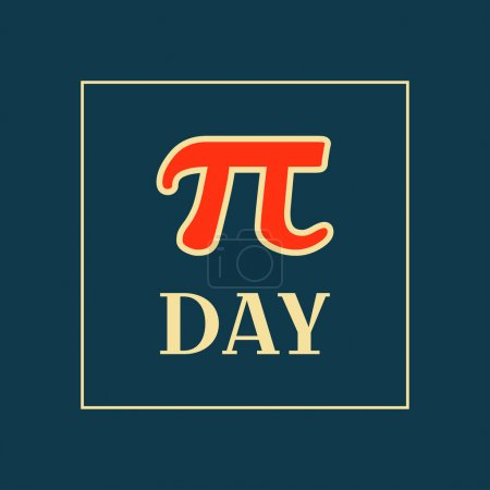 Pi Day Typography Poster Design