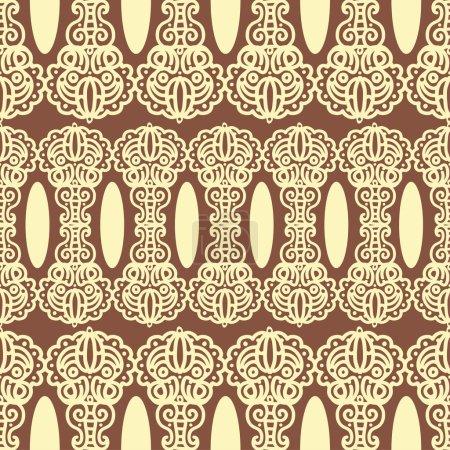 Illustration pour Modèle sans couture avec ornement damassé. Peut être utilisé pour la conception textile de tissu - image libre de droit