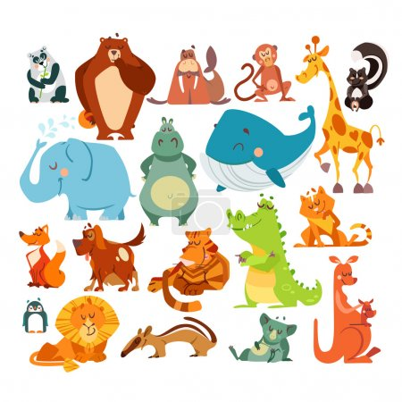 cute kawaii cartoon animals.