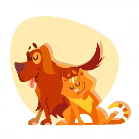Cat and dog characters