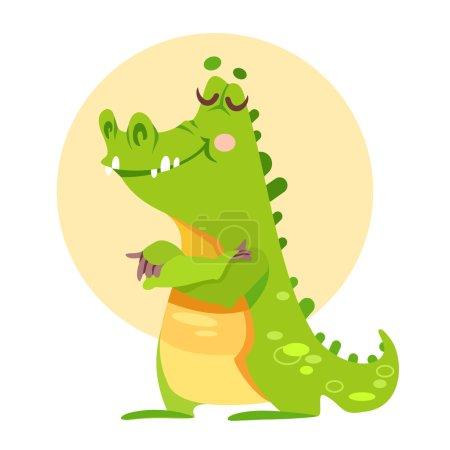 Cute cartoon alligator mascot.