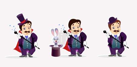 Cute magicians character,vector...