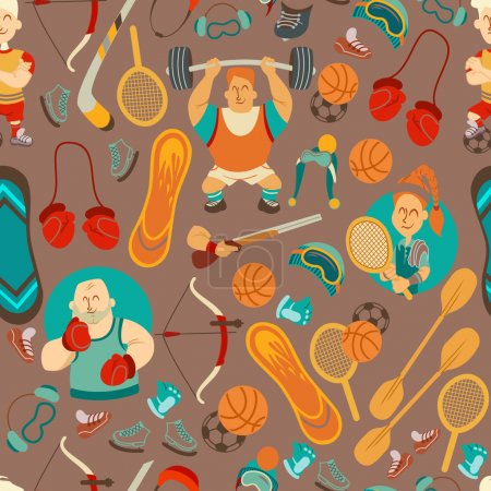 pattern with people playing sports