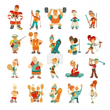 character set. Sport icons