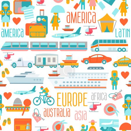 Illustration for Big set of infographics and illustrations about travel around the world. Vector objects, vehicles, peoples,signs and symbols. Flat style - Royalty Free Image