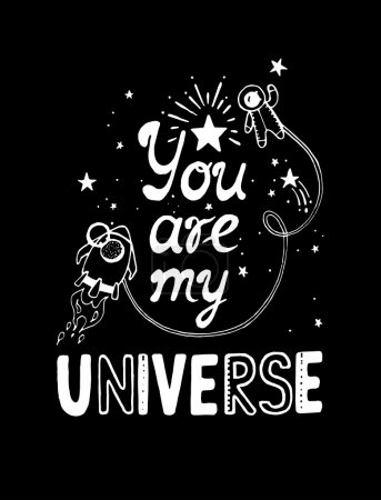 You are my universe  poster.
