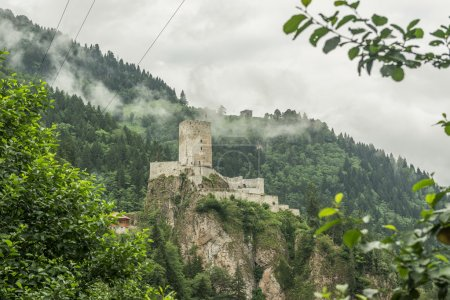 Photo for Zilkale (built in 14th century) is a medieval castle located in the Firtina Valley - Royalty Free Image