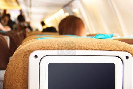 Passenger seats on the plane
