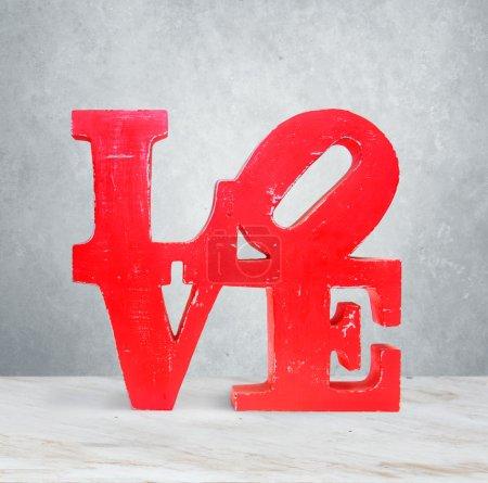 Vintage wooden letters love