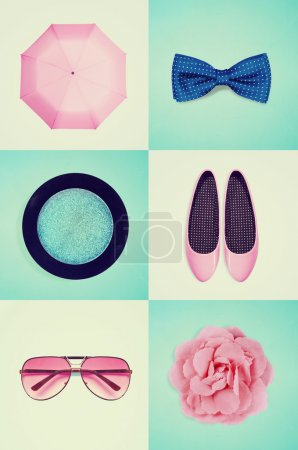 Collage of women's clothing