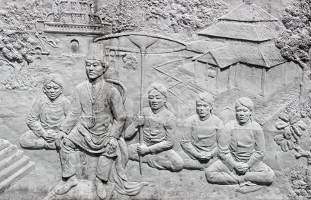 Bas-relief pattern in Asia