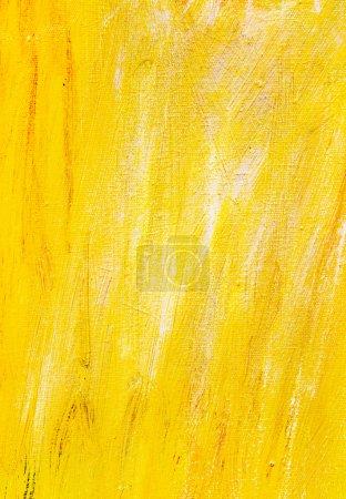 Photo pour Peinture de texture de fond jaune - image libre de droit