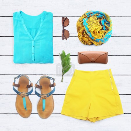 Foto de Collage de colección de ropa de mujer - Imagen libre de derechos