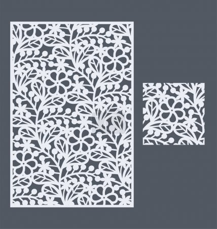 The template seamless pattern for decorative panel