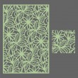 Laser cut vector panel and the seamless pattern fo...