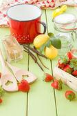 Vaření marmelády s čerstvé jahody