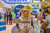 Samsung girl mascot to promote Samsung Galaxy camera in Thailand