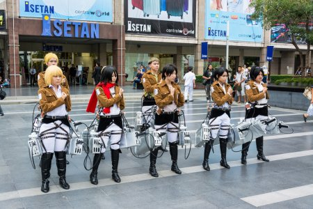 Thai cosplayer team from animation