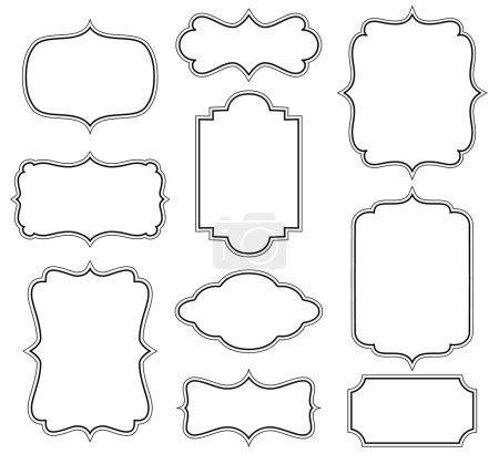 Illustration for Set of simple decorative frames - Royalty Free Image