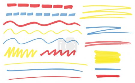 Highlighter vector lines