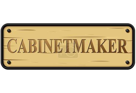 Vector cabinetmaker sign