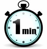 Vector one minute stopwatch