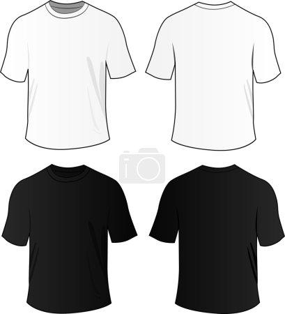 Vector blank tee shirts