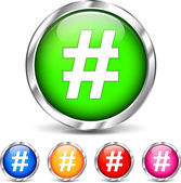 Hashtag sada ikon