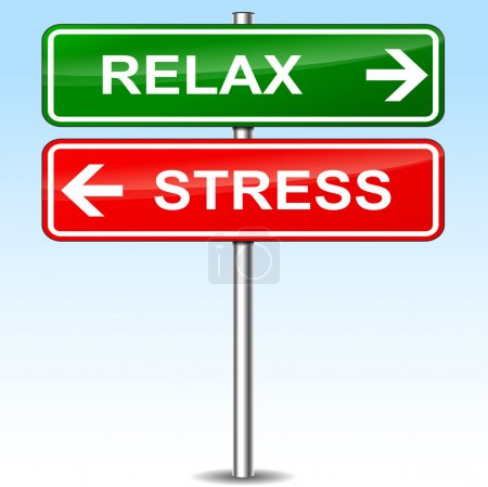 Illustration for Illustration of relax and stress directional sign - Royalty Free Image