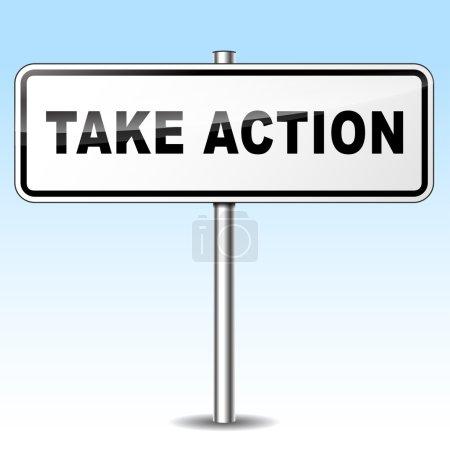 take action sign
