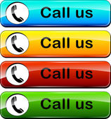 Illustration of colorful web buttons for call us
