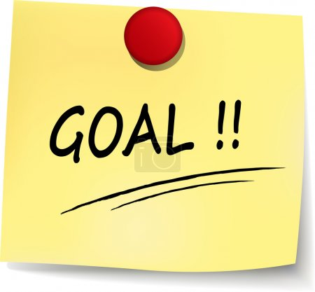 goal yellow note