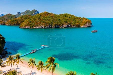 Summer island beach