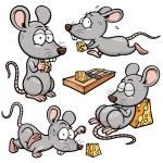 Vector illustration of Cartoon rat...