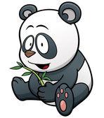 Kreslená postavička panda