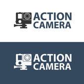 Action camera logo Camera for active sports Ultra HD 4K