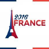 France Euro 2016 logos Eiffel Tower Logo Paris Vector Illustration Football or soccer