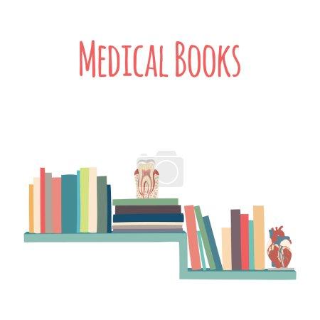 "Bookshelves  ""Medical Book""."
