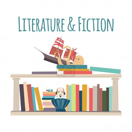 "Bookshelves  ""Literature & Fiction""."