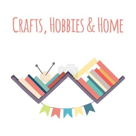 """Bookshelves  """"Crafts, Hobbies & Home""""."""