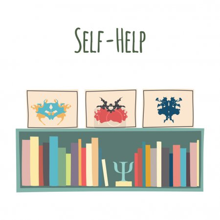 "Bookshelves  ""Self-Help""."