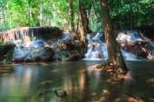 Deep forest Huai Mae Kamin Waterfall