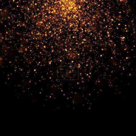 Photo pour Or scintillant bokeh étoiles poussière - image libre de droit