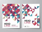 set of abstract business magazine cover  flyer brochure flat d