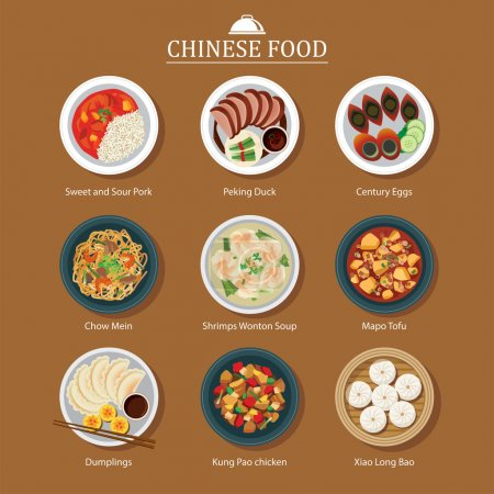 set of chinese food